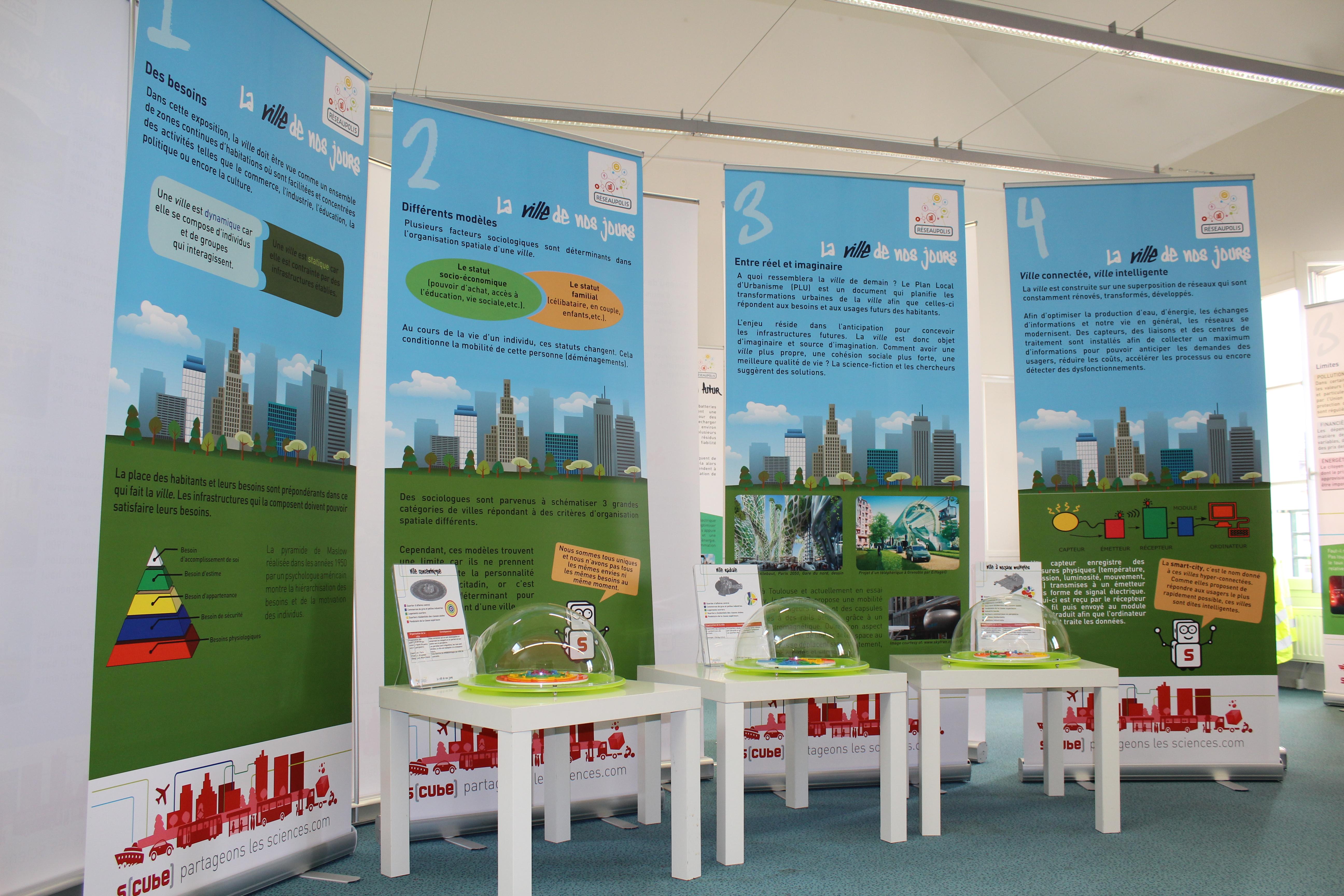 Exposition Réseaupolis Maquette Ville du futur