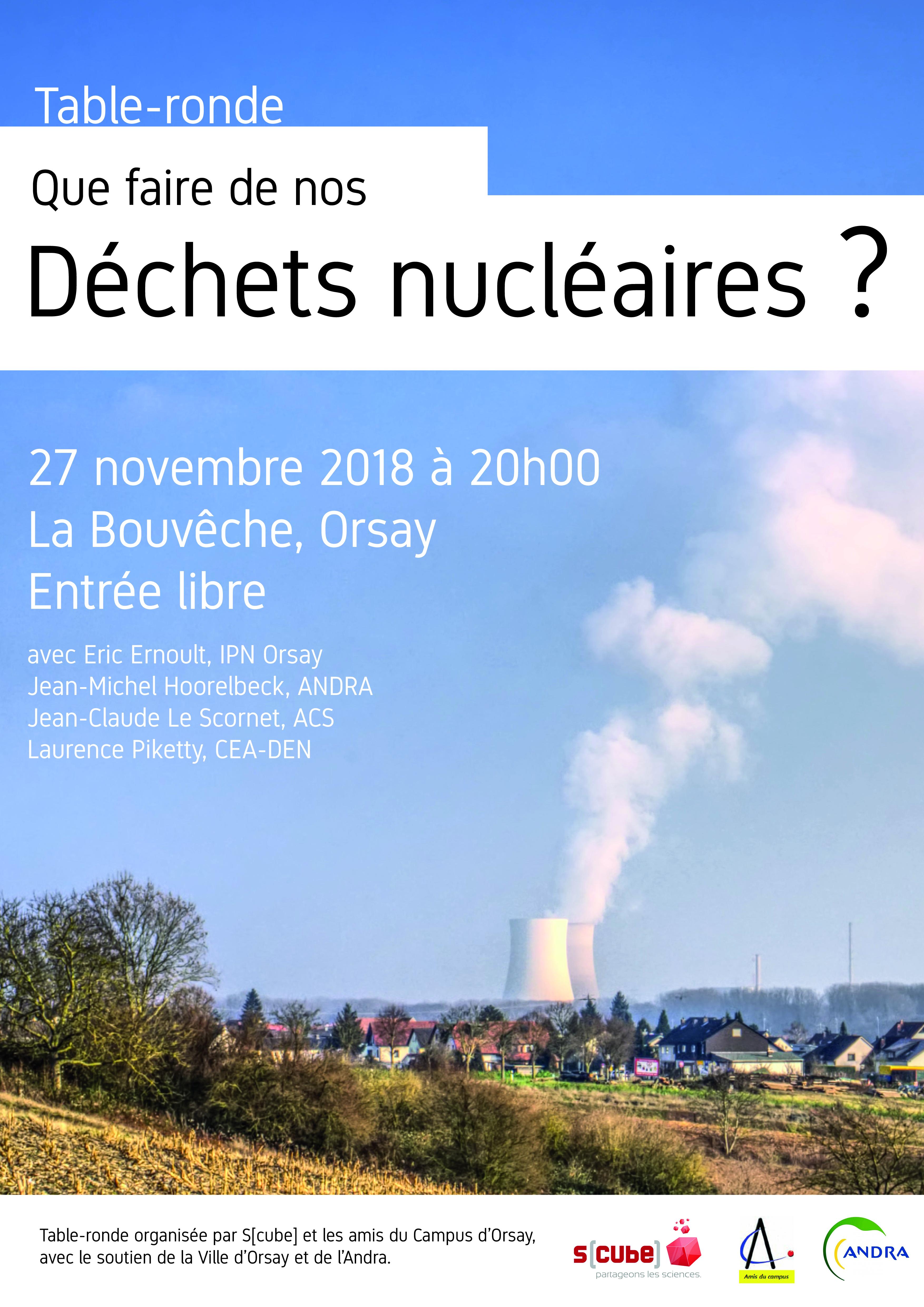 Affiche Table-ronde Déchets nucléaires ORsay